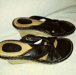 Born Wedges Slide, Ladies 8, , minimal wear